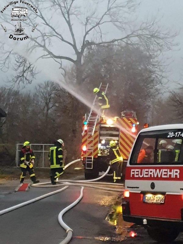 Einsatzübung Scheunenbrand